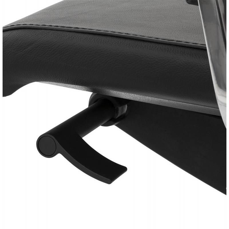 Fauteuil de bureau design ergonomique CUBA en cuir (noir) - image 21097