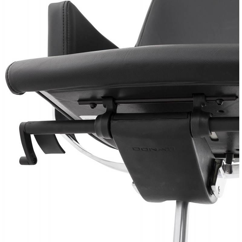 Fauteuil de bureau design ergonomique CUBA en cuir (noir) - image 21099