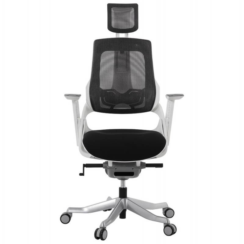Fauteuil de bureau design ergonomique bahamas en tissu noir - Fauteuil bureau tissu ...