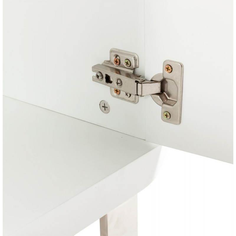 Meuble de rangement bas CORSE en bois laqué (blanc) - image 21161