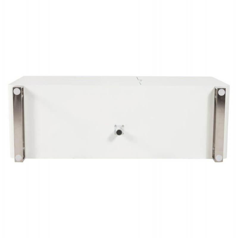 Meuble de rangement bas CORSE en bois laqué (blanc) - image 21162