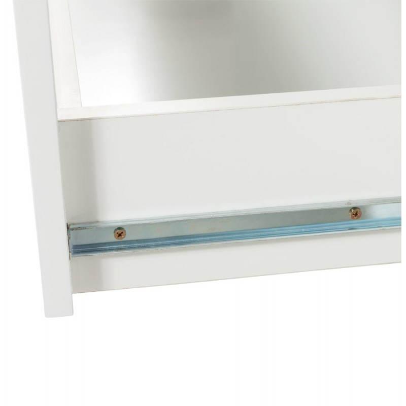 Meuble de rangement bas CORSE en bois laqué (blanc) - image 21165