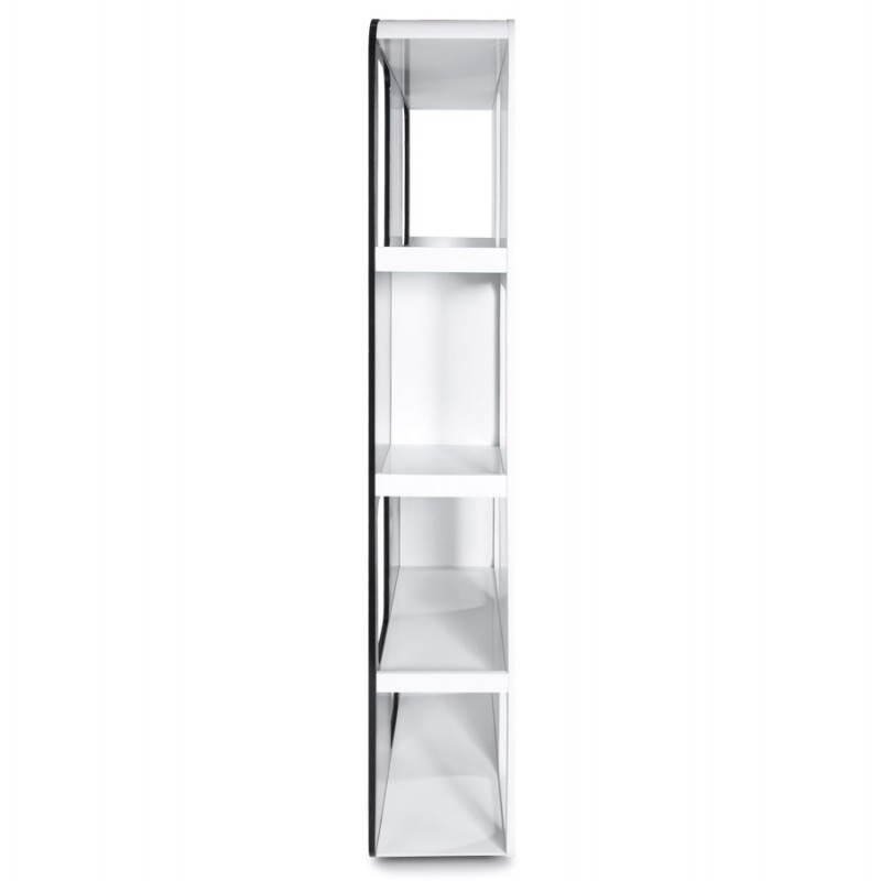 Shelf or screen LAGOON lacquered wooden (black and white) - image 21187