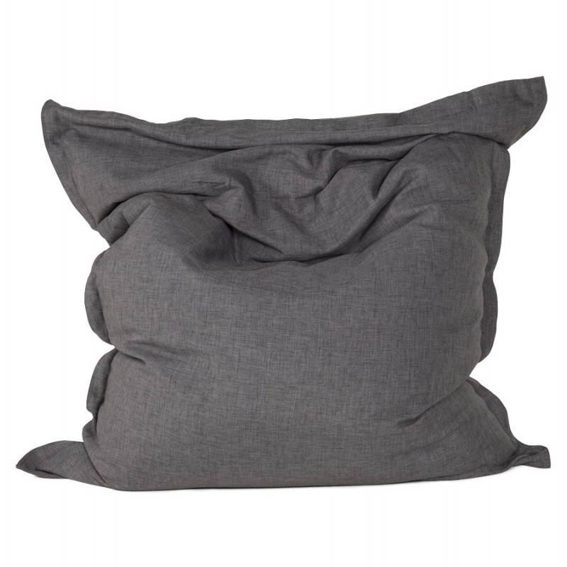 Pouf rectangulaire SALIN en textile (gris foncé) - image 21210