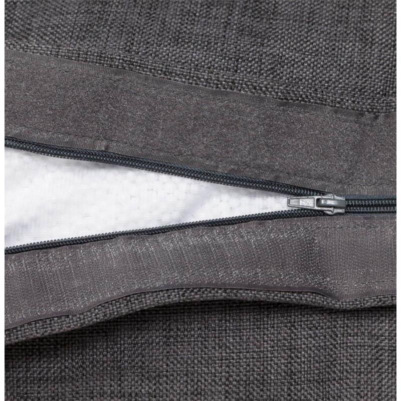 Pouf rectangulaire SALIN en textile (gris foncé) - image 21217