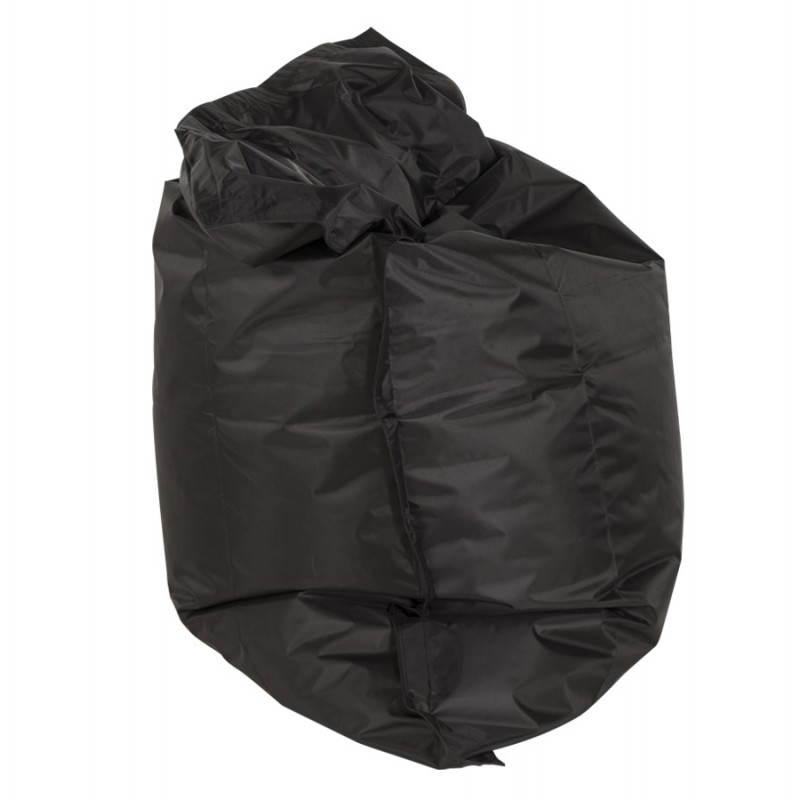 pouf rectangulaire janot en textile noir. Black Bedroom Furniture Sets. Home Design Ideas