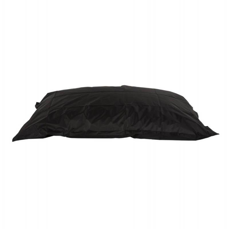 Pouf rectangulaire JANOT en textile (noir) - image 21223