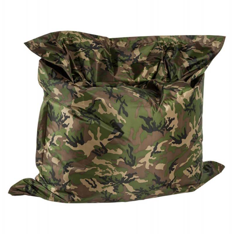 Pouf rectangulaire JANOT en textile (camouflé) - image 21228