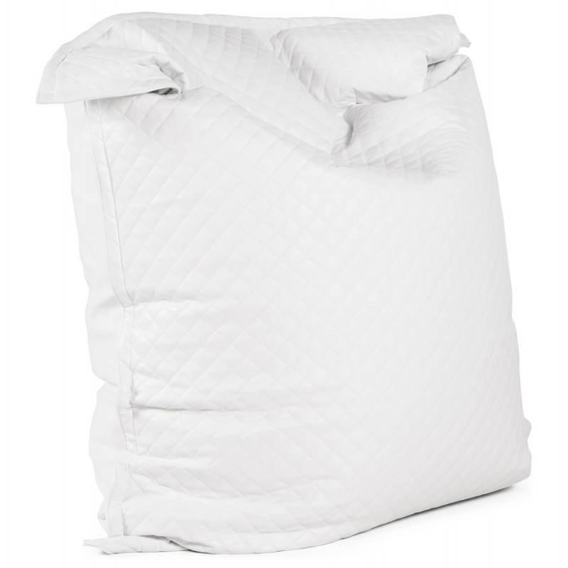 Pouf rectangulaire LILIAN  en textile polyuréthane (blanc) - image 21235