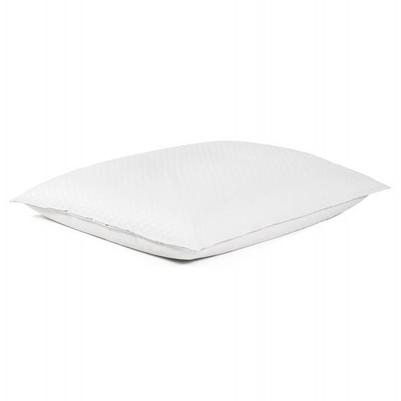 Pouf rectangulaire LILIAN  en textile polyuréthane (blanc) - image 21238