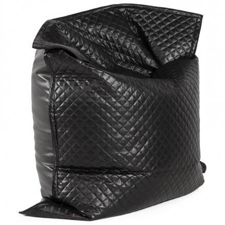 Puff rettangolare LILIAN tessile poliuretano (nero)