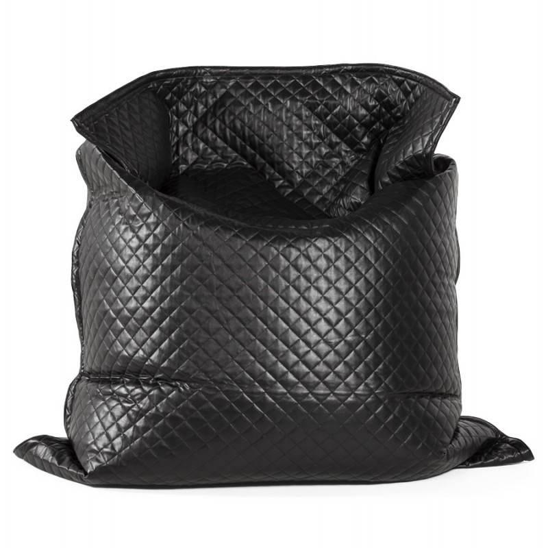 Pouf rectangulaire LILIAN en textile polyuréthane (noir) - image 21245