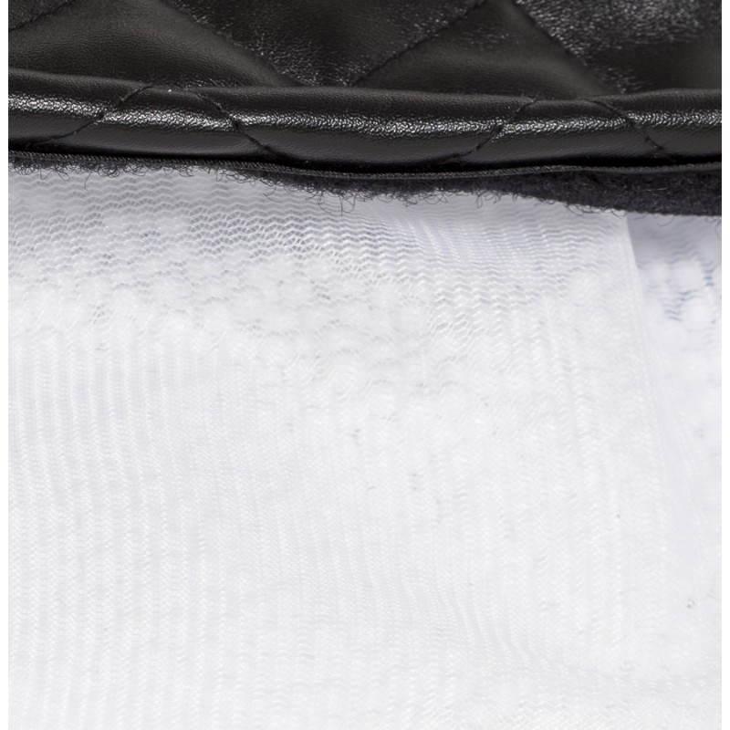 Pouf rectangulaire LILIAN en textile polyuréthane (noir) - image 21253