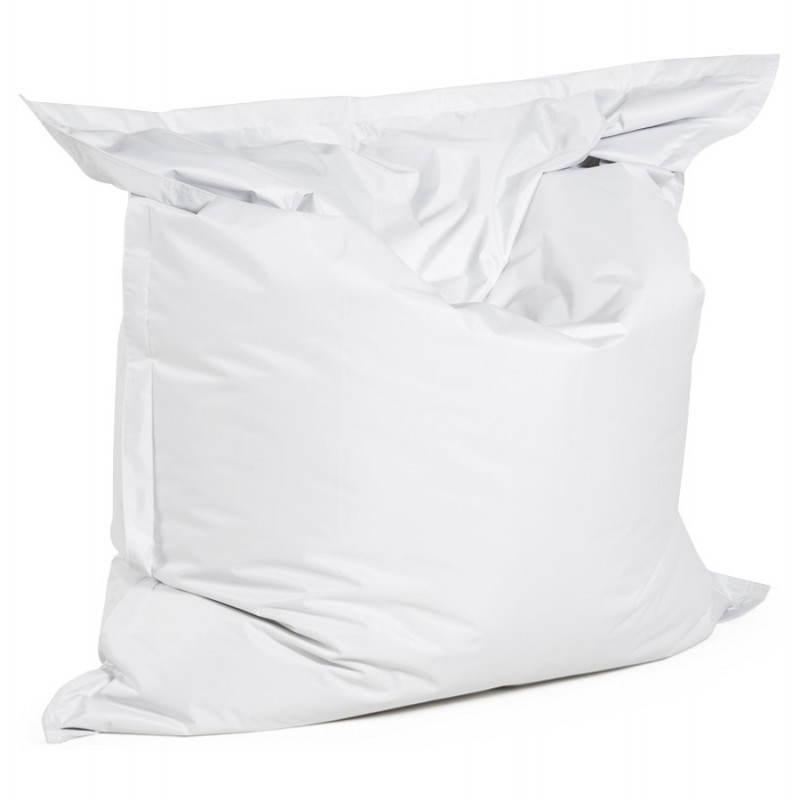 Pouf rectangulaire MILLOT en textile (blanc)