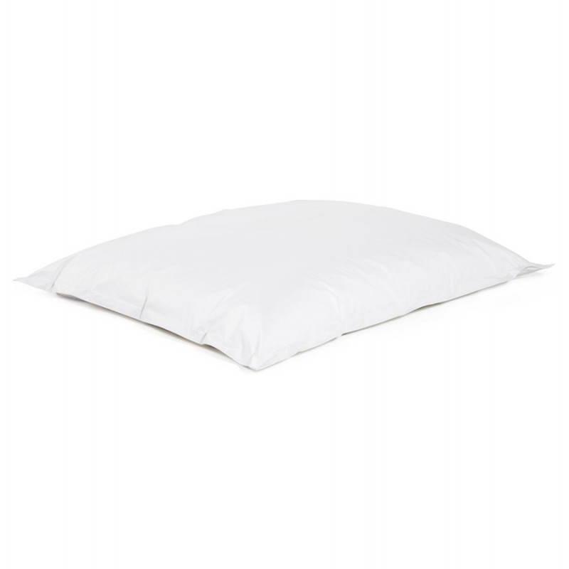Pouf rectangulaire MILLOT en textile (blanc) - image 21257