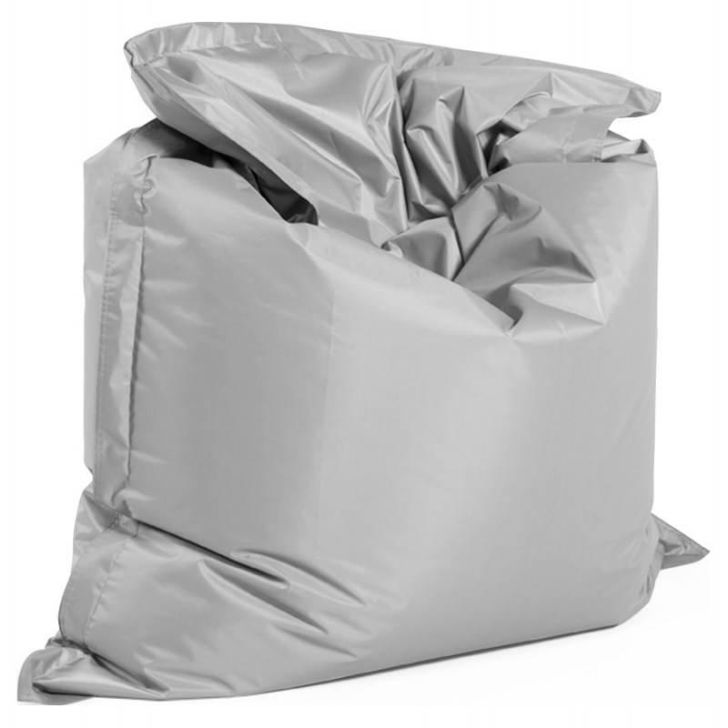 Pouf rectangulaire MILLOT en textile (gris) - image 21262