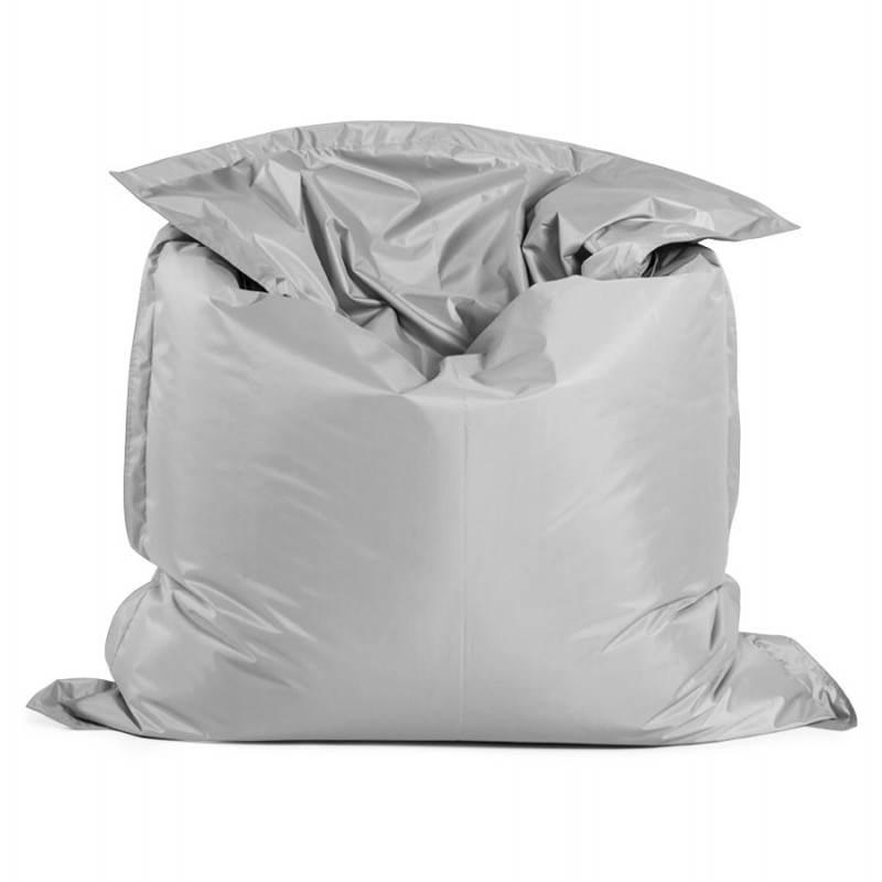 Pouf rectangulaire MILLOT en textile (gris) - image 21263