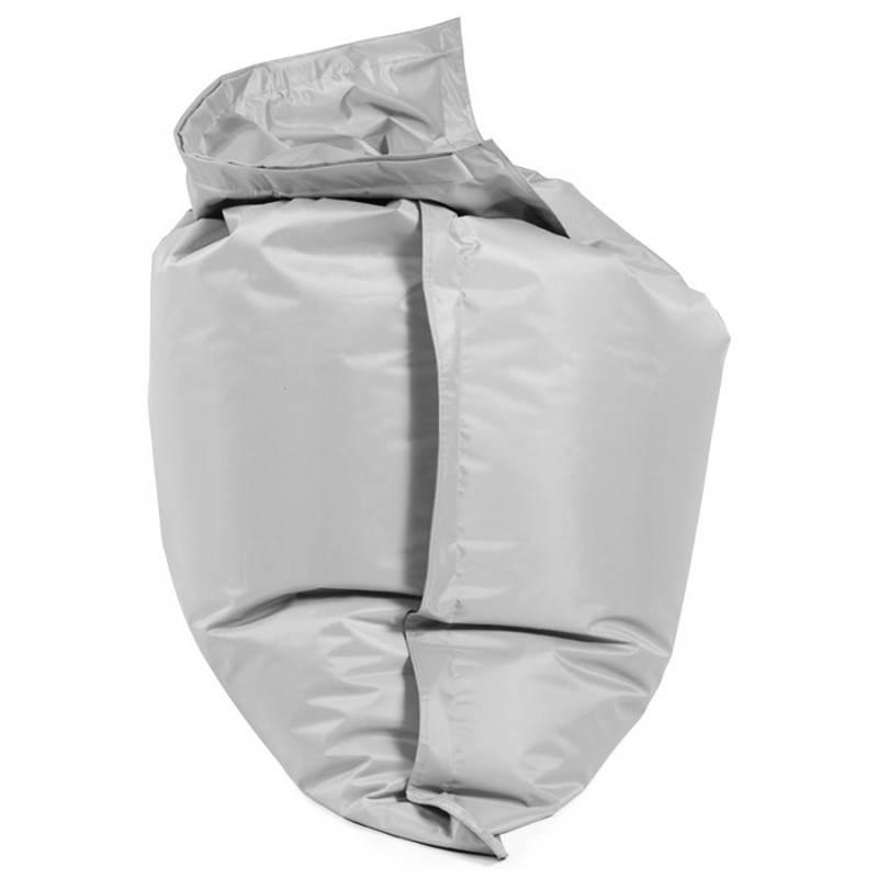 Pouf rectangulaire MILLOT en textile (gris) - image 21264