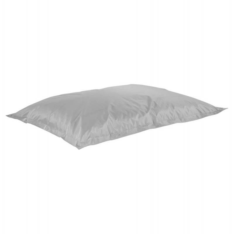 Pouf rectangulaire MILLOT en textile (gris) - image 21265