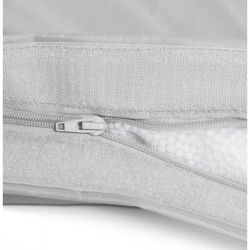 Pouf rectangulaire MILLOT en textile (gris) - image 21267