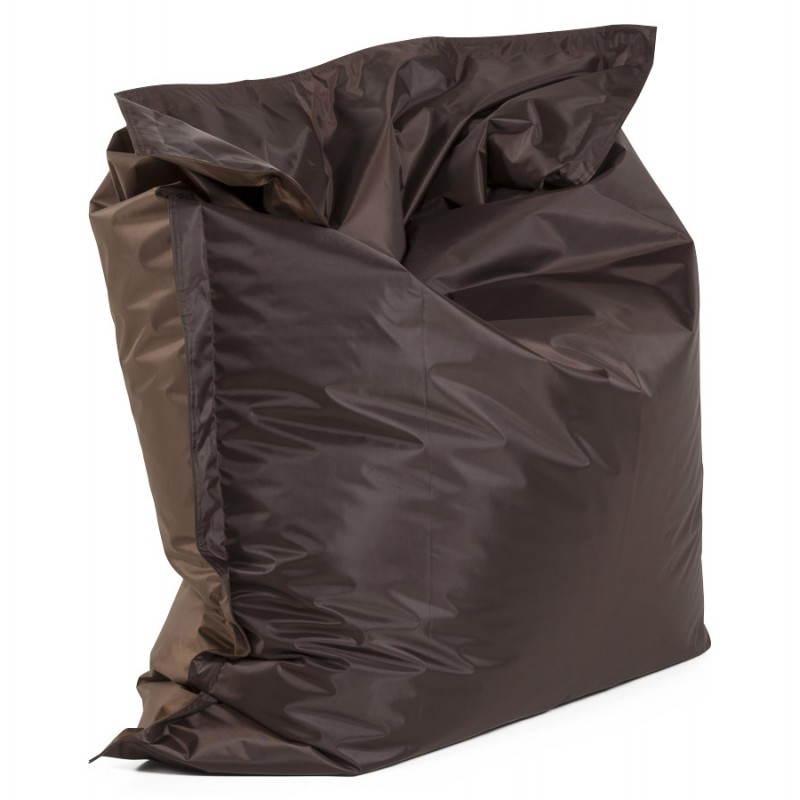 Pouf rectangulaire MILLOT en textile (marron)