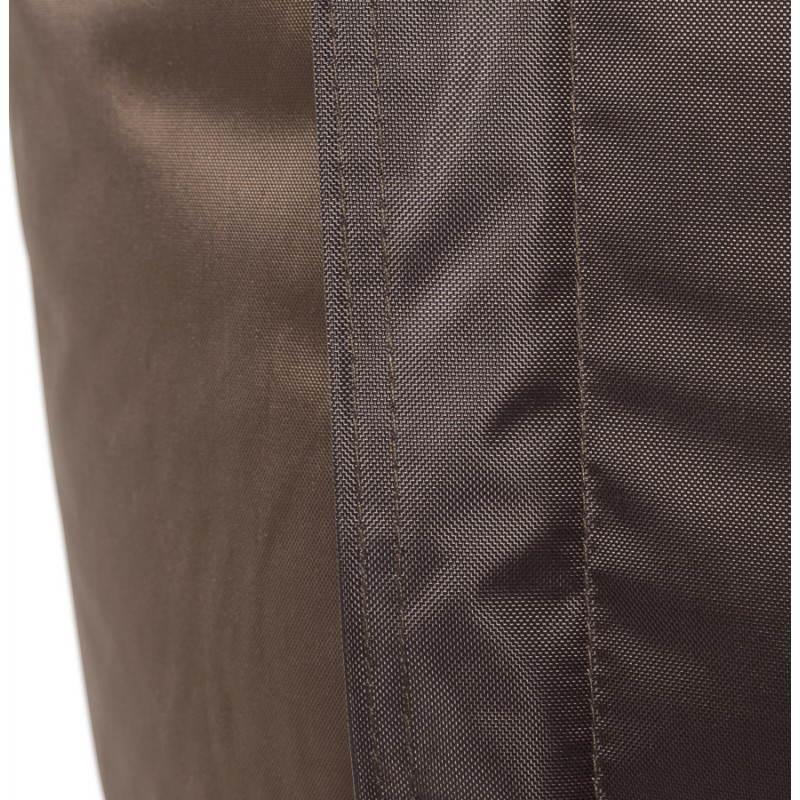 Pouf rectangulaire MILLOT en textile (marron) - image 21278
