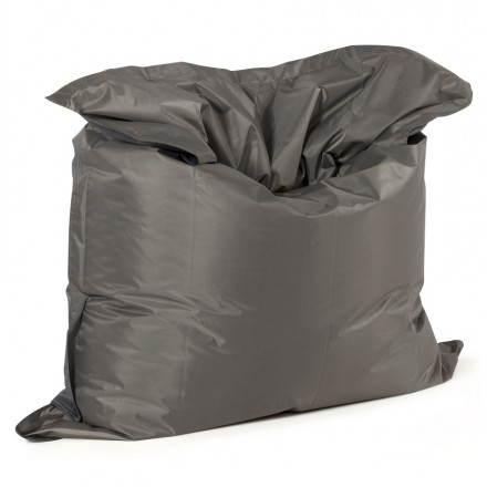 Pouf rectangulaire MILLOT en textile (gris foncé)