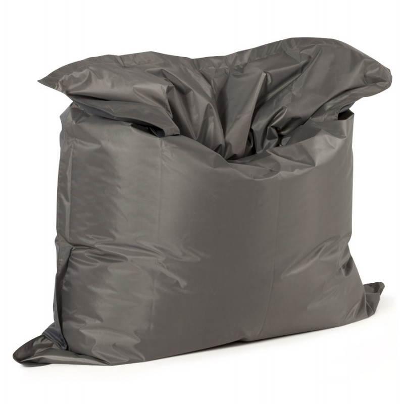 Puff rectangular MILLOT textile (dark grey)