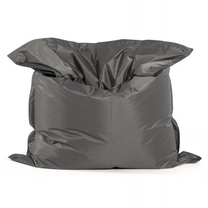 pouf rectangulaire millot en textile gris fonc. Black Bedroom Furniture Sets. Home Design Ideas