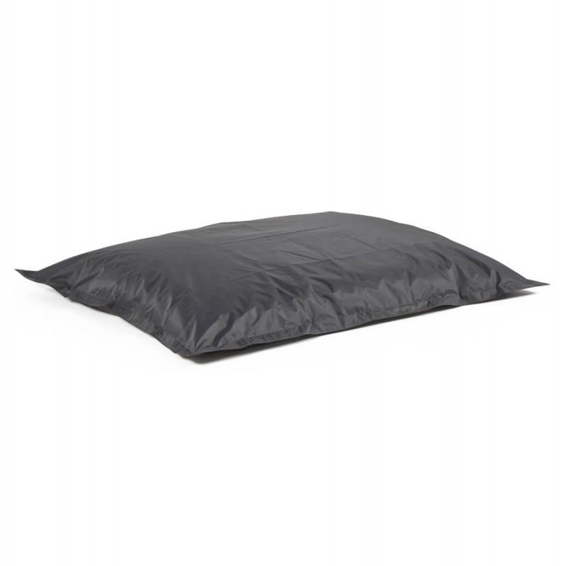 Puff rectangular MILLOT textile (dark grey) - image 21286