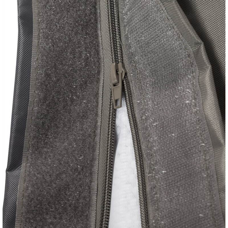 Puff rectangular MILLOT textile (dark grey) - image 21290