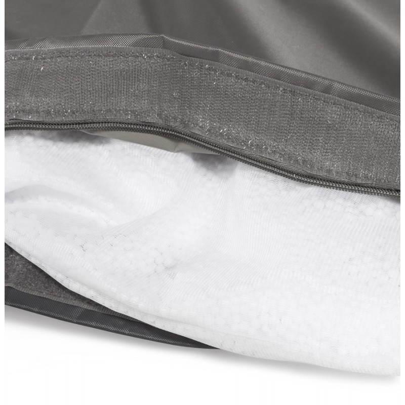Puff rectangular MILLOT textile (dark grey) - image 21292
