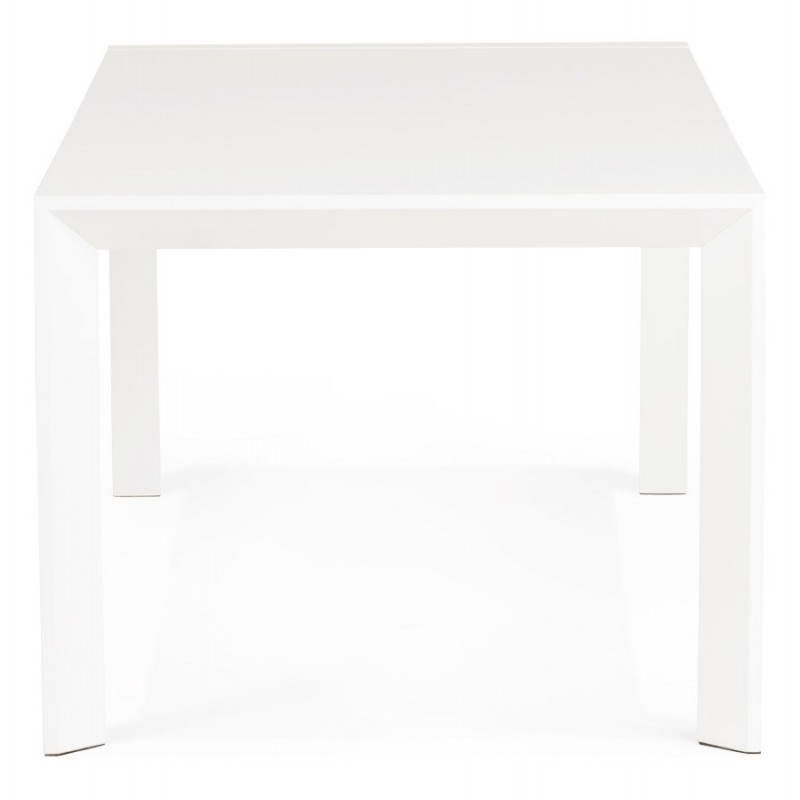 Design table with 2 extensions MACY (white) painted wood - image 21295