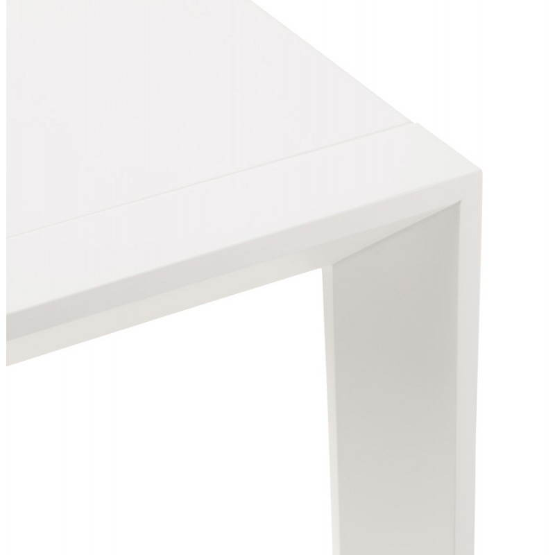 Design table with 2 extensions MACY (white) painted wood - image 21298