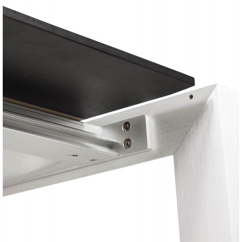 Table design avec 2 rallonges MACY en bois peint (noir) - image 21325