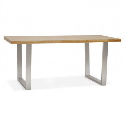 Solid oak (natural wood) rectangular modern table PANOU