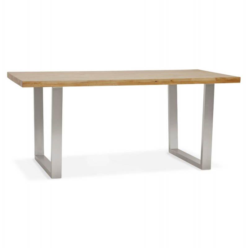 Table moderne rectangulaire PANOU en chêne massif (bois naturel) - image 21335