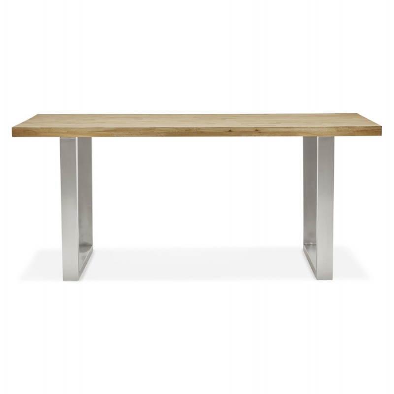 Table moderne rectangulaire PANOU en chêne massif (bois naturel) - image 21336