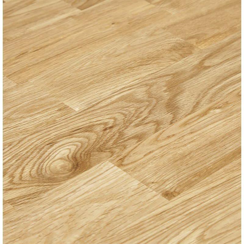 Table moderne rectangulaire PANOU en chêne massif (bois naturel) - image 21340
