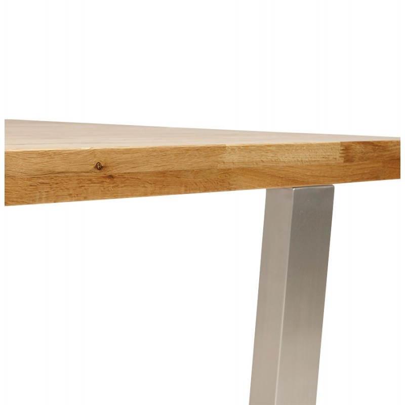 table moderne rectangulaire panou en ch ne massif 180cmx90cmx77 5cm bois naturel. Black Bedroom Furniture Sets. Home Design Ideas