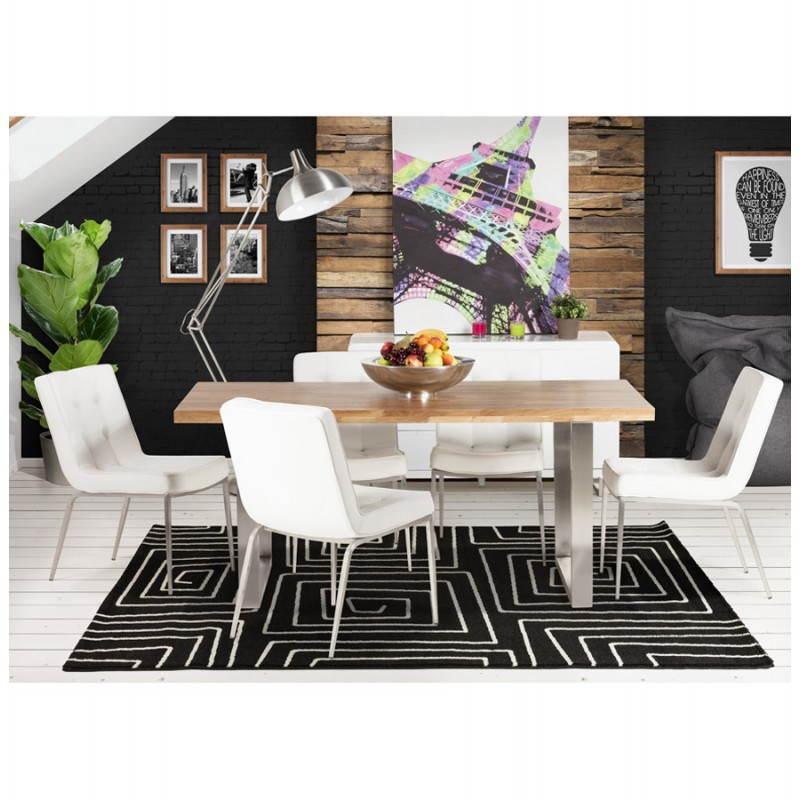 Table moderne rectangulaire PANOU en chêne massif (bois naturel) - image 21350