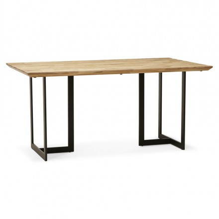 Oak (natural wood) rectangular modern table NAGPAL