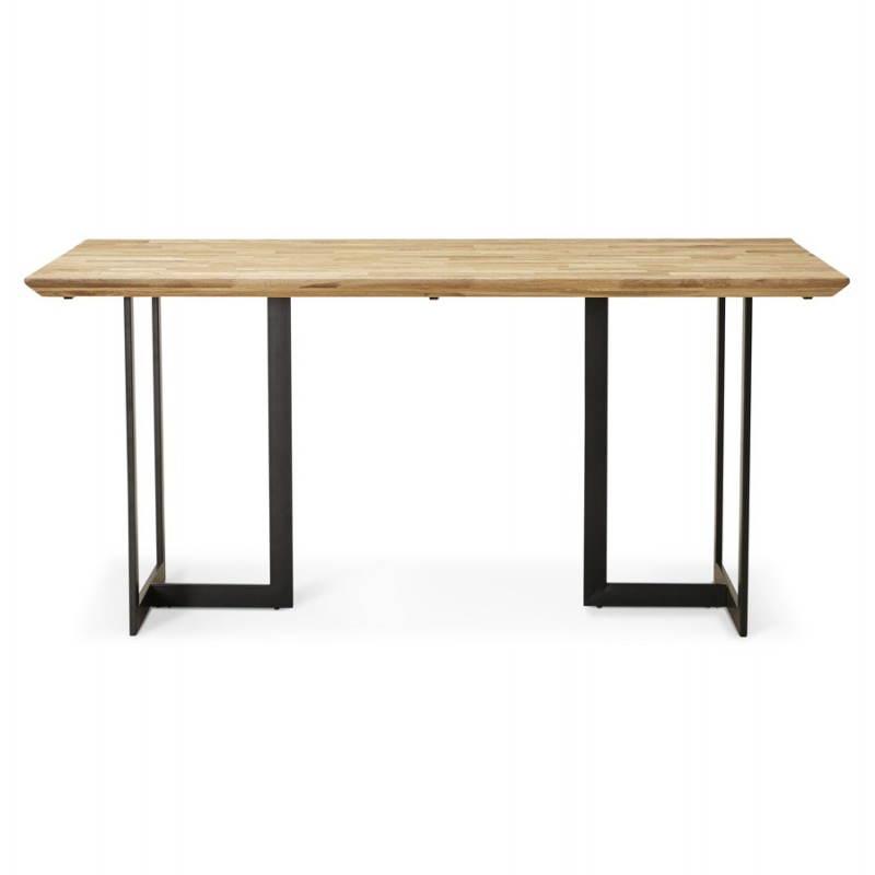 Table moderne rectangulaire NANOU en chêne (bois naturel) - image 21355