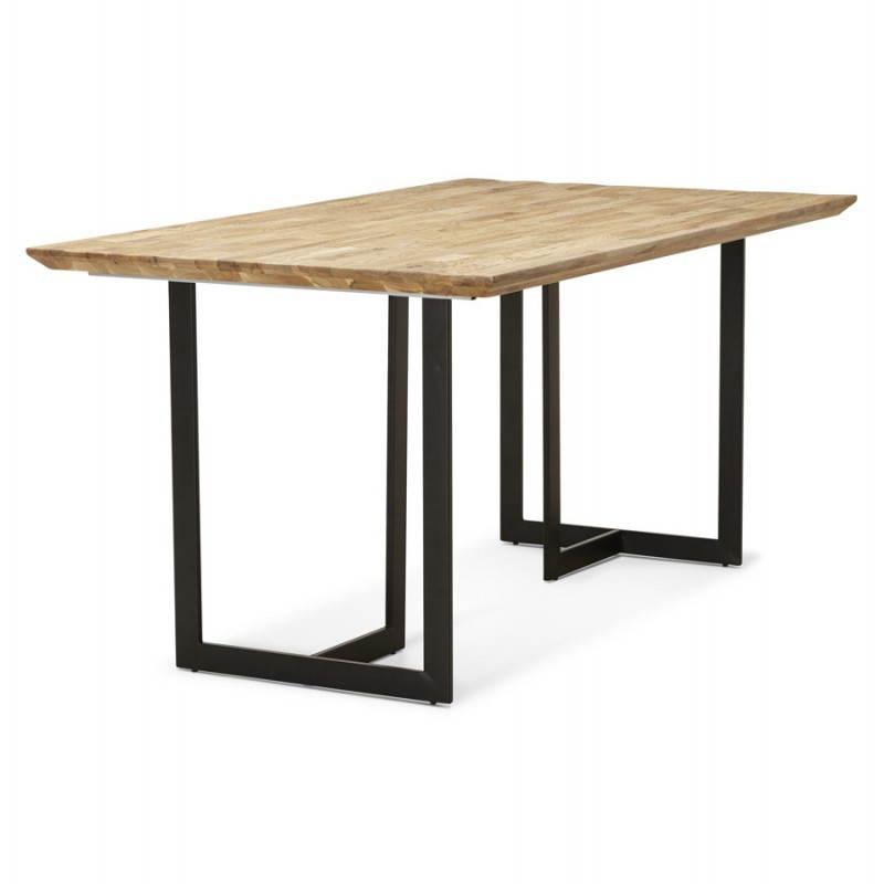 Table moderne rectangulaire NANOU en chêne (bois naturel) - image 21356
