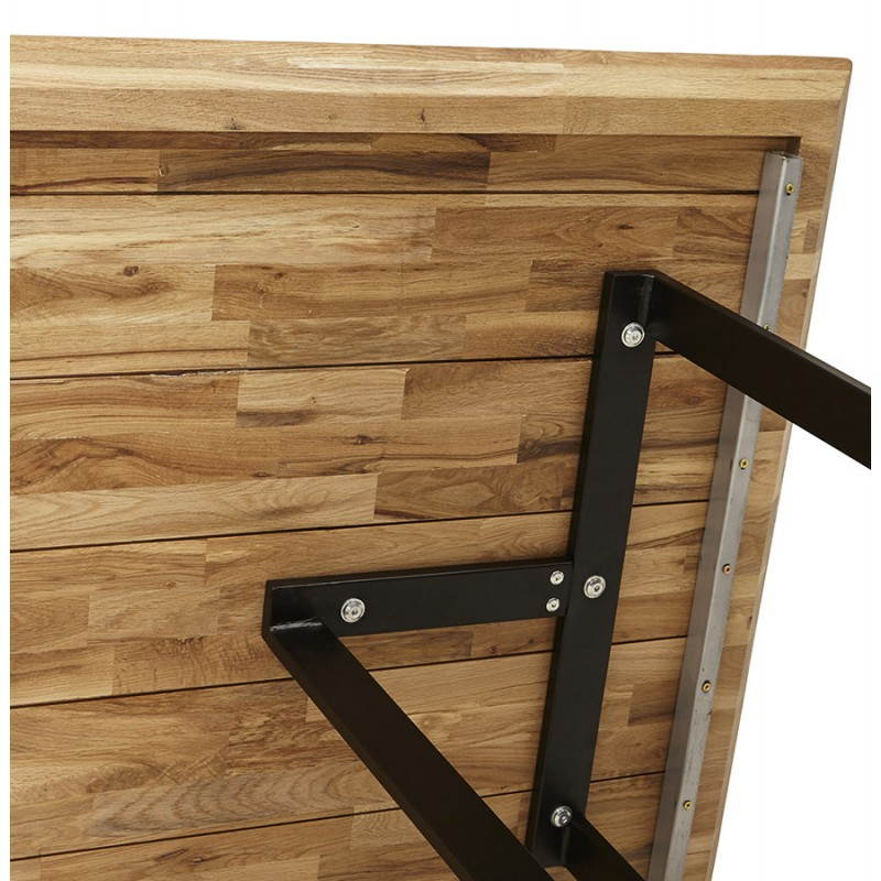 Table moderne rectangulaire NANOU en chêne (bois naturel) - image 21363