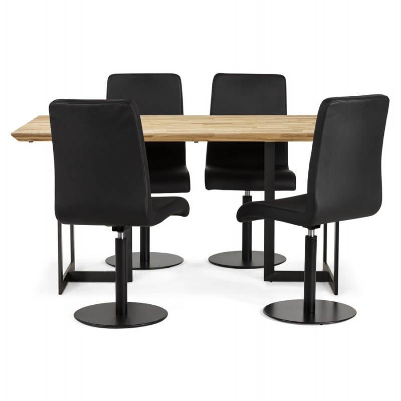 Table moderne rectangulaire NANOU en chêne (bois naturel) - image 21366