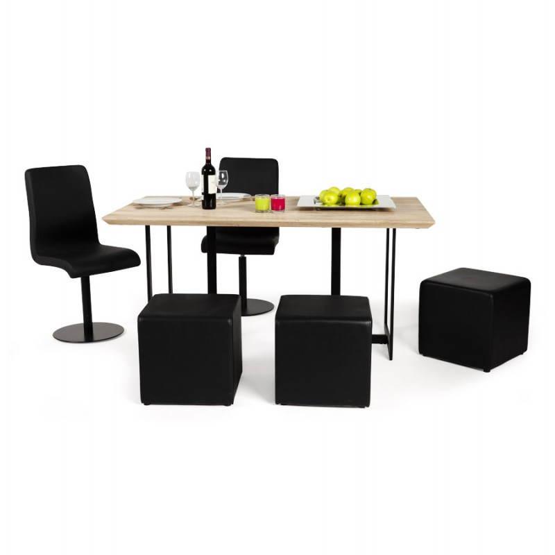 Table moderne rectangulaire NANOU en chêne (bois naturel) - image 21368