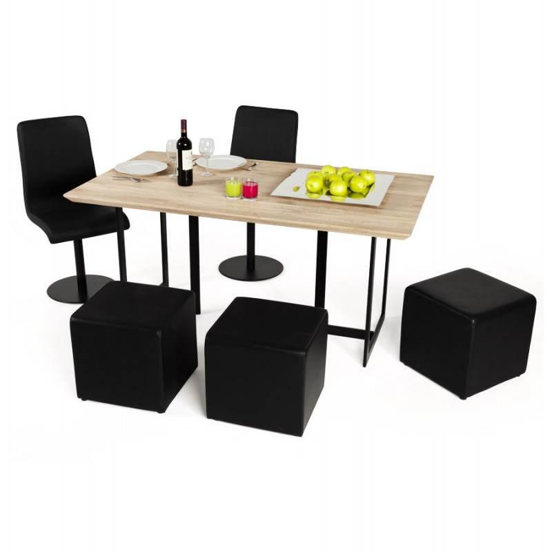 eiche naturholz rechteckiger moderner tisch nagpal. Black Bedroom Furniture Sets. Home Design Ideas