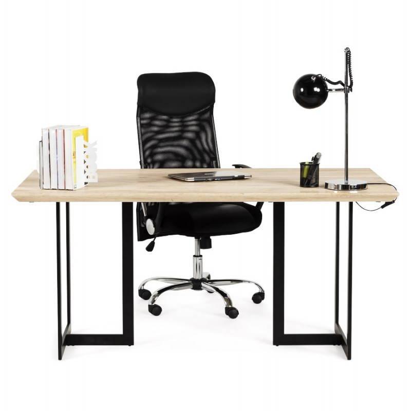 Table moderne rectangulaire NANOU en chêne (bois naturel) - image 21370