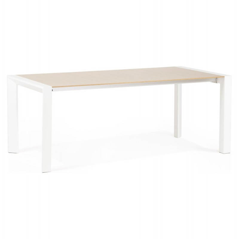 Rectangular design table with extensions SOLO veneered oak and metal (natural wood) - image 21412